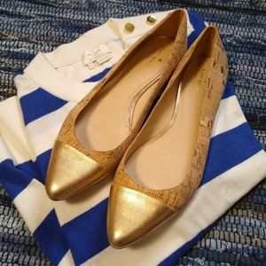 Kate Spade Gold Toe Flats